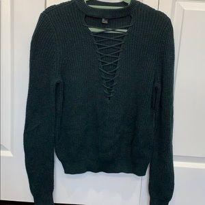 Dark green sweater thick sweater